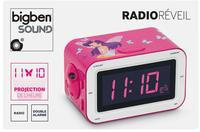 Bigben radio-réveil RR30 rose motif fée-Avant