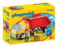 PLAYMOBIL 1.2.3 70126 Camion benne-Côté gauche