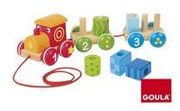 Goula jouet à tirer 1-2-3 train-commercieel beeld