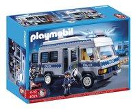 PLAYMOBIL Exclusive 4023 Fourgon équipé et policiers-Côté gauche