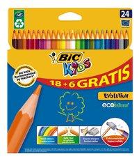 Bic Kids kleurpotlood Evolution - 24 stuks-Vooraanzicht