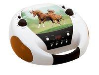 bigben draagbare radio/cd-speler CD52 Paarden 2-Linkerzijde