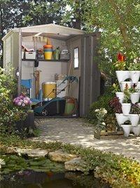 Keter Allibert tuinhuis Factor 66 beige/taupe-Afbeelding 3