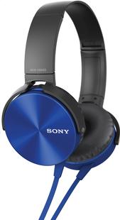 Sony casque MDR-XB450 bleu-Côté gauche