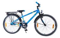 Citybike Blade 24/ bleu avec porte-bagages-commercieel beeld