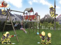 BnB Wood schommel met speeltoren Fireman