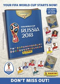 Panini FIFA World Cup Russia 2018 - 500 stuks-Vooraanzicht