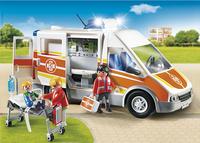 Playmobil City Life 6685 Ambulance avec gyrophare et sirène-Image 1