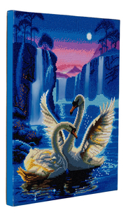 Craft Buddy Crystal Art kit Moonlight Swans-Linkerzijde