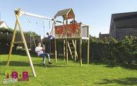 BnB Wood portique avec tour de jeu Fireman-Image 2