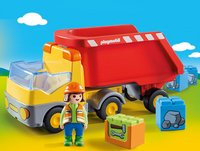 PLAYMOBIL 1.2.3 70126 Camion benne-Image 1