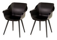 Hartman Tuinstoel Sophie Studio zwart - 2 stuks-commercieel beeld