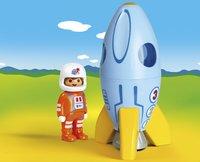 PLAYMOBIL 1.2.3 70186 Fusée et astronaute-Image 1