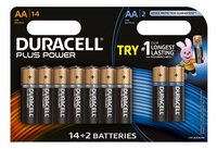 Duracell AA-batterij 14 Plus Power + 2 Ultra Power gratis
