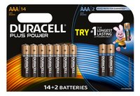 Duracell AAA-batterij 14 Plus Power + 2 Ultra Power gratis