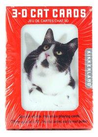Kikkerland speelkaarten 3D katten-Vooraanzicht