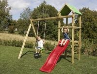 BnB Wood portique Little Eden avec toboggan rouge-Image 3