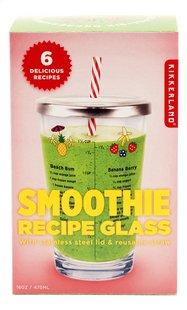 Kikkerland Smoothie Recipe Glass-Vooraanzicht