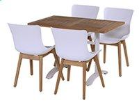 Hartman tuintafel Bistro wit L 110 x B 70 cm-Afbeelding 1