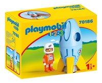 PLAYMOBIL 1.2.3 70186 Fusée et astronaute-Côté gauche