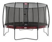 Berg trampolineset Elite Ø 4,30 m Red-Vooraanzicht