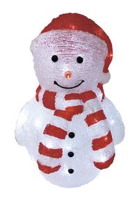 Bonhomme de neige lumineux LED avec chapeau rouge