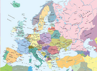 Ravensburger puzzel Kaart Europa