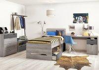 Chambre 3 éléments Tempo lit + bureau + armoire 2 portes-Image 1