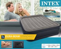 Intex Matelas gonflable pour 2 personnes Deluxe pillow rest Queen blauw-Avant