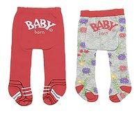 BABY born 2 broekkousen rood-Vooraanzicht