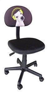 Chaise de bureau pour enfants Doggy noir-Avant