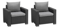 Allibert Loungeset met driezit California grafietgrijs cool grey-Artikeldetail