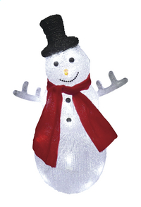 Sneeuwman met ledverlichting