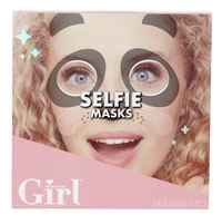 Who's That Girl Selfie Masks - 3 stuks-Vooraanzicht