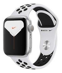 Apple Watch Series 5 44 mm aluminium argent/Platine pur/Noir-Côté droit