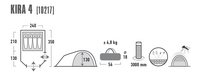 High Peak Tente de randonnée Kira 4 gris foncé-Détail de l'article