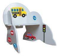 Kinderstoel voertuigen met stickers wit