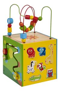 DreamLand cube d'activités en bois avec 7 animaux-Arrière