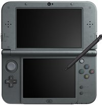 New Nintendo 3DS XL console Metallic Black-Vooraanzicht