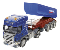 Siku vrachtwagen RC Scania met kipoplegger
