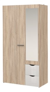 Chambre 2 éléments Young lit mi-hauteur/bureau + armoire 2 portes-Détail de l'article