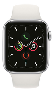 Apple Watch Series 5 40 mm aluminium argent/blanc-Avant