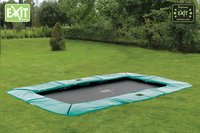 EXIT trampoline enterré Supreme Ground 214 x 366 cm vert-Image 1