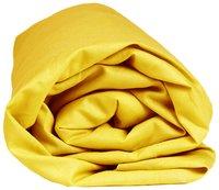 Sleepnight drap-housse jaune en jersey de coton 90/100 x 200 cm-Détail de l'article
