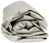 Sleepnight Drap-housse pour matelas + surmatelas hauteur des coins 38 cm gris en coton 160 x 200 cm-Détail de l'article