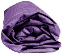 Sleepnight drap-housse mauve en flanelle 180 x 200 cm-Détail de l'article