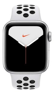 Apple Watch Series 5 40 mm aluminium argent/Platine pur/Noir-Avant
