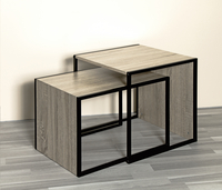 Haku-Möbel table d'appoint Sandro cube chêne-Image 1
