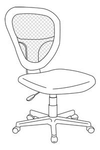 Demeyere Meubles bureaustoel Radius zwart-product 3d drawing