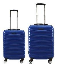 Transworld Set de valises rigides Feel Good Spinner dark blue-Avant